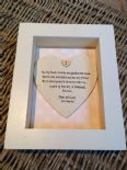 Shabby Personalised Chic Box Frame Gift For Sister In Law Bridesmaid Maid Honour